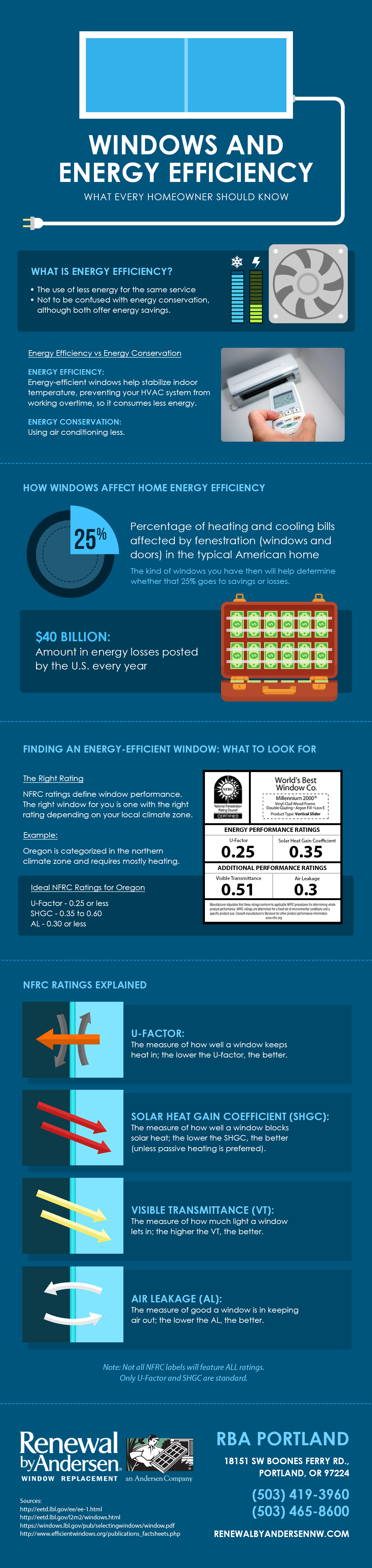 Infographics windows and energy efficiency what every homeowner should know - The basics about energy efficient windows ...
